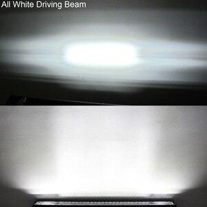 Image 4 - Listwa Led 4x4 Offroad Pod światła do samochodu Off road ciężarówka Van SUV ATV przyczepa 4WD biały czerwony niebieski błysk stroboskop jazdy światło ostrzegawcze