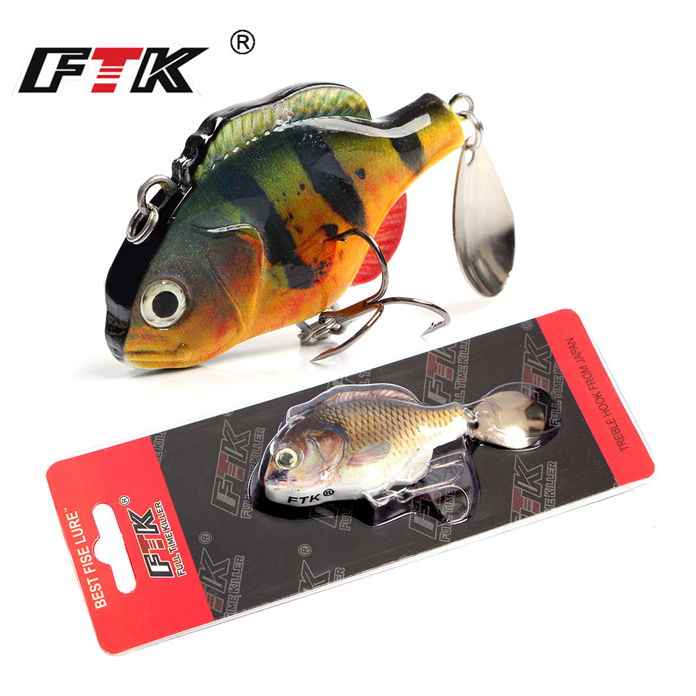 FTK 37g Mini VIB Hard Fishing Lure Swimbait For Bass 6 5cm Crankbaits Vibration Artificial Fishing Bait Wobblers For Trolling in Fishing Lures from Sports Entertainment