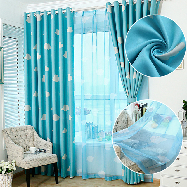 NEW Window Curtains For Living Room Pink Fabric Curtain + Pastel ...
