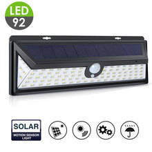 Walkway Lights Wall Light Garden Home Solar Power 92 LED Eco-Friendly Street Lamp Durable Security
