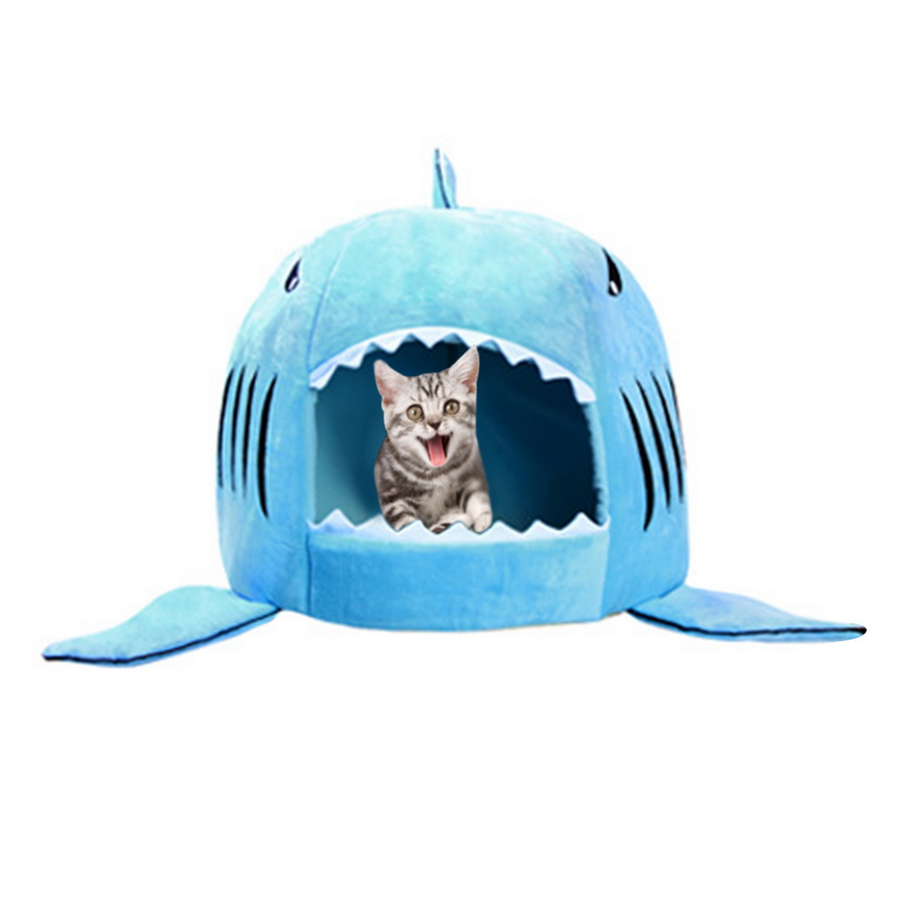 Dozzlor Shark Cat House Bedding Basket Cute Pet Products Sleeping Small Medium Puppy Litter Dog Bed Lounger For Animal 3 Colors #6