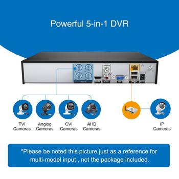SANNCE DVR Recorder 4CH 5IN1 1080N CCTV DVR Security System H.264 HDMI P2P Video Cctv System For Secuirty Camera Onvif HDD