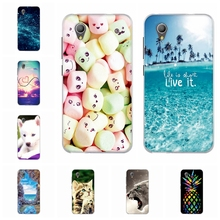 For Alcatel 1 Back Cover Soft Silicone TPU 5033D Phone Case Wild Animal Patterned Alcatel1 5033 Shell Funda