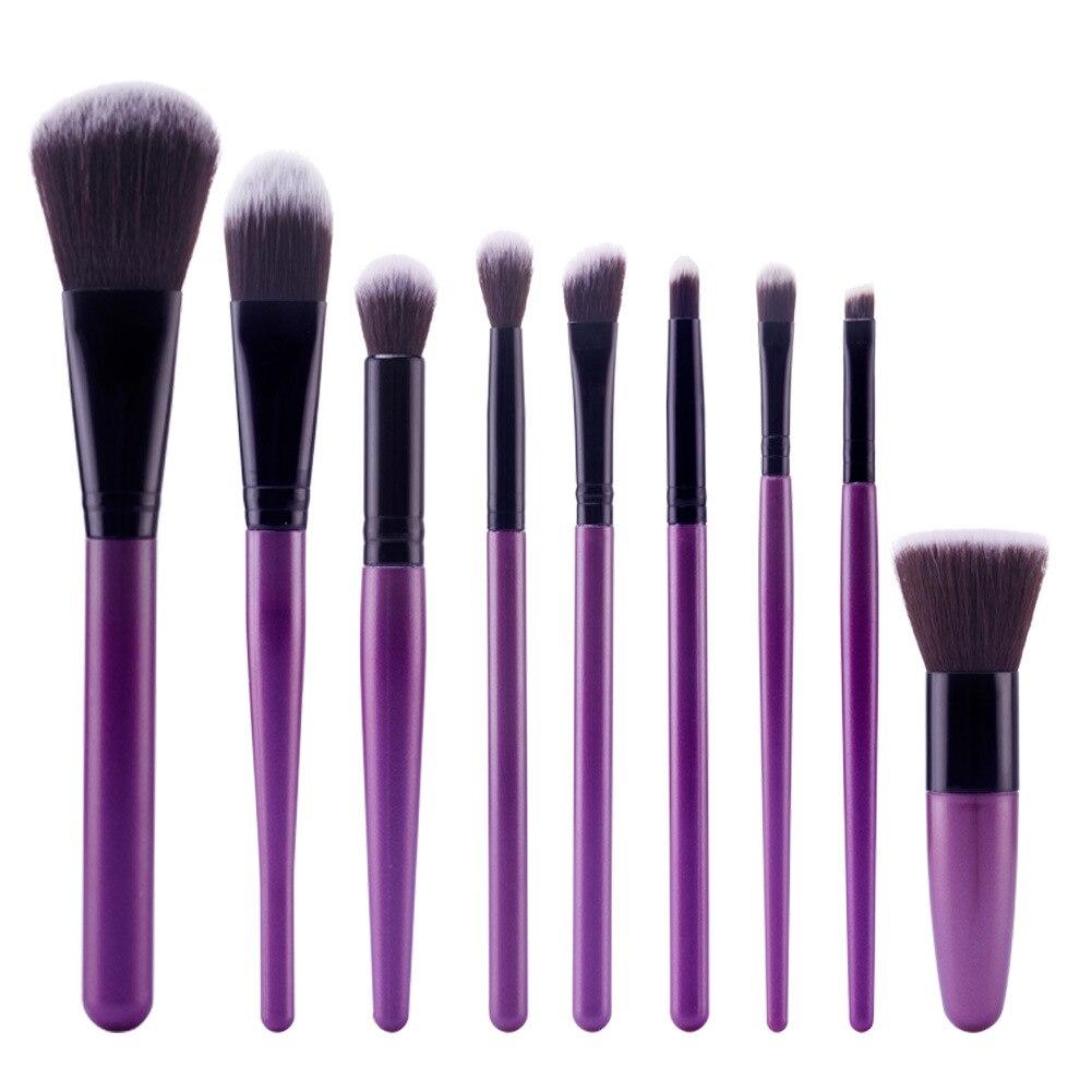 Makeup Brushes 9 Pcs Styles Professional Soft Eye Cosmetics Beauty Make up Brush Set Kabuki Kit Tools Maquiagem