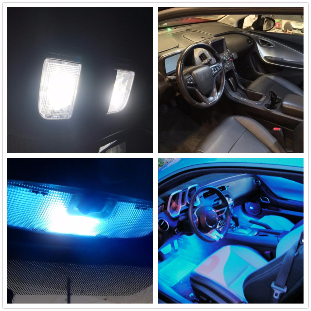 WLJH Canbus 11x Led Light Lamp Dome Trunk Interior Bulb Car Interior Lighting Kit For VW GOLF 6 VI GTI MK6 2010 2011 2013 2014 canbus error free for volkswagen vw golf 6 mk6 gti led interior light kit package 2010 car stying 8pcs