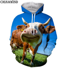 ce36171a7fc5 New design funny cow Expression hoodie men/women 3D print hoodies  sweatshirts Long sleeves Harajuku