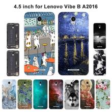 Мягкий чехол для телефона lenovo Vibe A2016A40 A Plus A1010 A20 A1010a20 задняя крышка с пейзажем для lenovo Vibe B A2016 A40