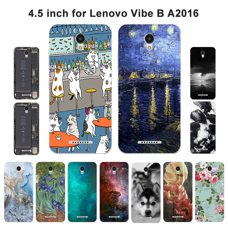 Soft Phone <font><b>Case</b></font> <font><b>For</b></font> <font><b>Lenovo</b></font> Vibe A2016A40 A Plus A1010 A20 <font><b>A1010a20</b></font> Back Cover Scenery Painted <font><b>For</b></font> <font><b>Lenovo</b></font> Vibe B A2016 A40 image