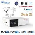 GTMedia GTC спутниковый ТВ приемник DVB-T2/C/S2/ISDB-T ccam Android 6 0 Smart tv Box Amlogic S905D 2 ГБ 16 ГБ 1 год Европейский ТВ m3u