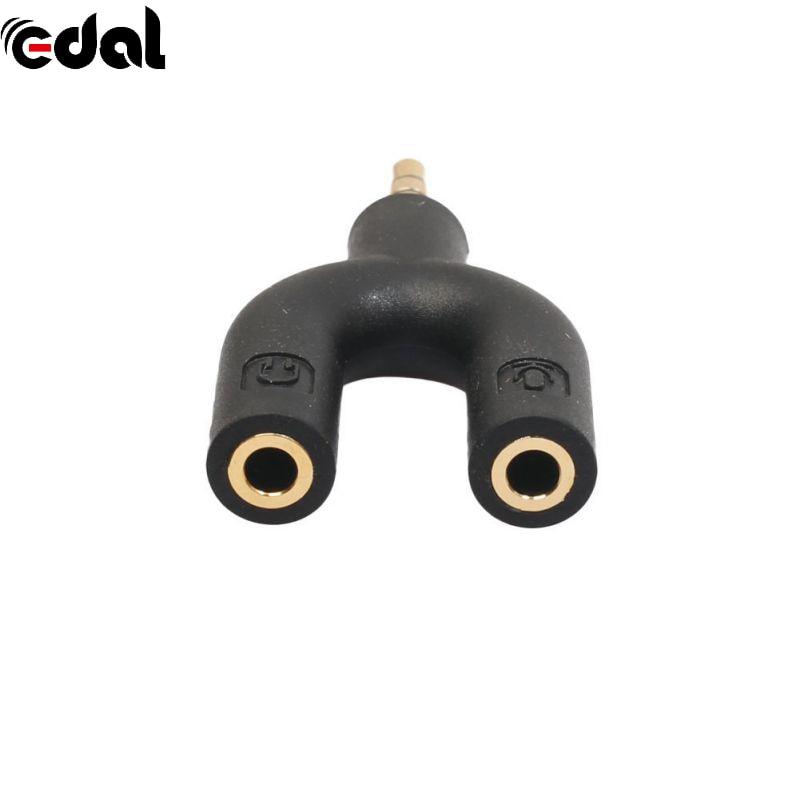 Earnest 3.5mm Male To 2 Female U Shape Stereo Audio Headphone Earphone Splitter Adapter Accessories & Parts
