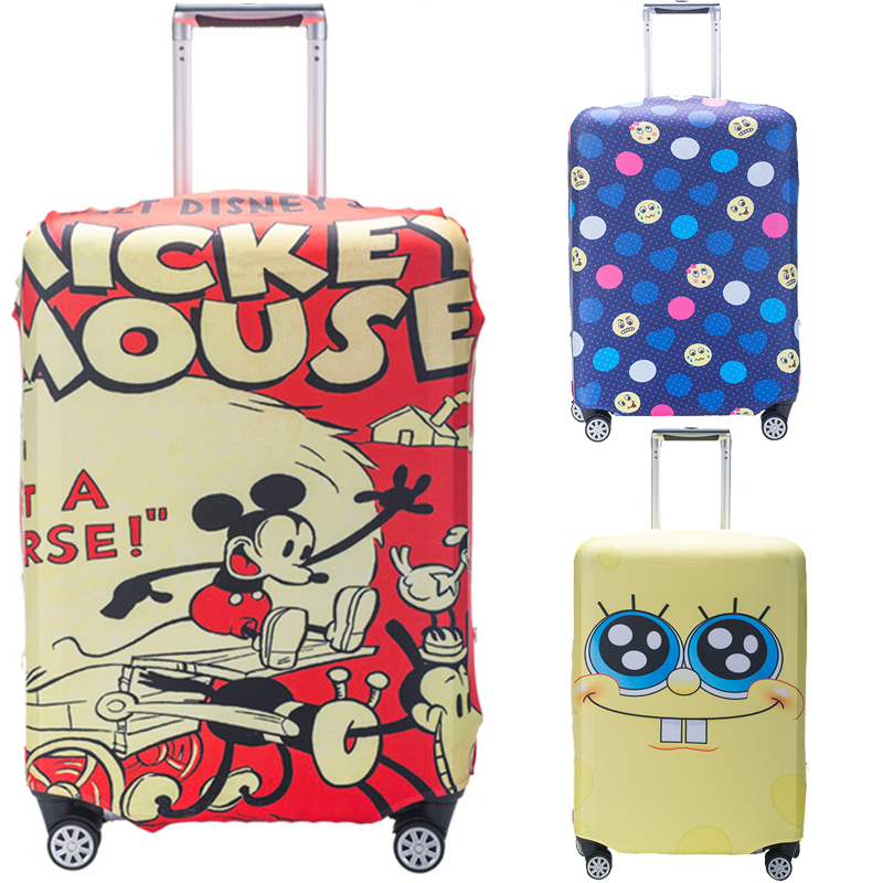 Cartoon Luggage Cover Travel Accessories 18-32 Inch Suitcase Elastic Protection Covers Trolley Baggage Dust Case Cover