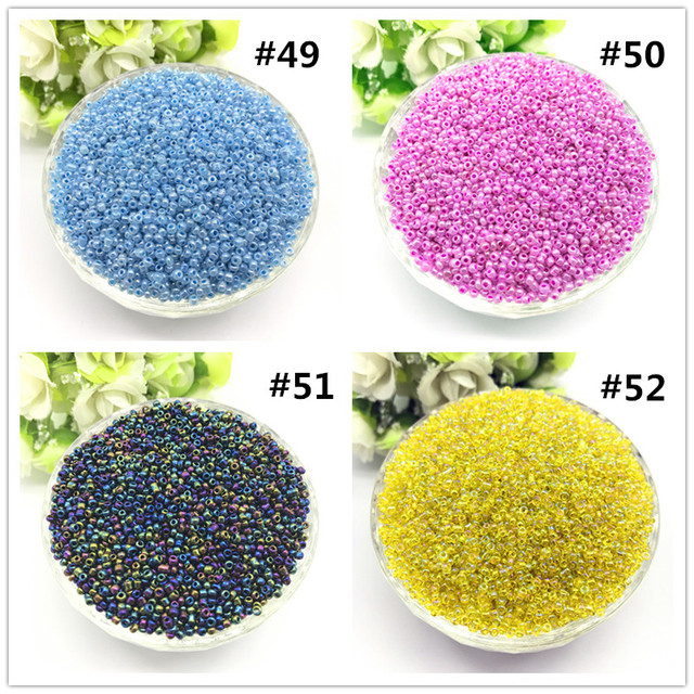 1000pcs 2mm Charm Czech Glass Seed Beads DIY Bracelet Necklace For Jewelry Making Accessories 4