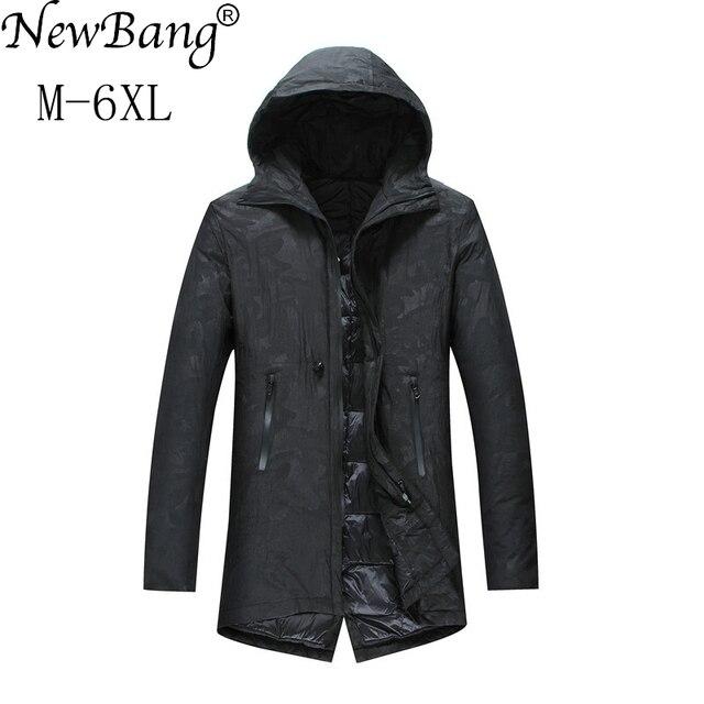 Newbang 5xl 6xl más largo invierno chaqueta hombres Abrigos de plumas  chaqueta Plumas parka para hombre 6b9cf8df5a74