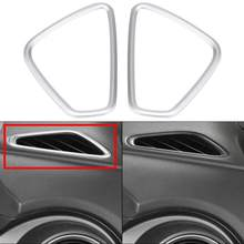 2 stks Auto Front Side Air Vent Trim Cover Frame voor Hyundai Encino Kauai Kona 2017 2018 2019 2020 SUV auto Accessoires(China)