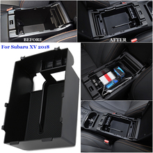 Trim Replacement Accessories Storage Cover For Subaru XV 2018 1Pcs ABS Console Universal Professional Box Nice