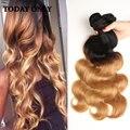 10A Ombre Brazilian Virgin Hair Body Wave 4Pcs 1b/27 Brazilian Ombre Human Hair Brazilian Virgin Remy Ombre Human Hair Bundles