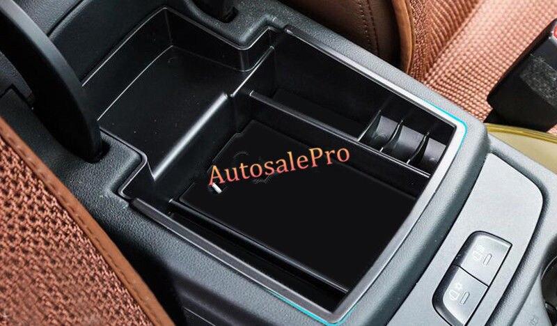 Black Interior Armrest Storage Box Holder For Audi A4 B8 2008-2015