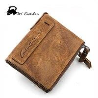 DERI CUZDAN Famous Brand Short Mens Wallet Leather Genuine Coin Pockets Male Clutch Purse 100 Cowhide