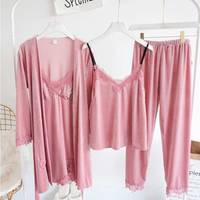 SILKBEUTY Pajamas Women's Robe Sets Wear Pyjama Home Suit Solid Sexy Home Clothing Sleep Lounge Lingerie Winter Night Dress