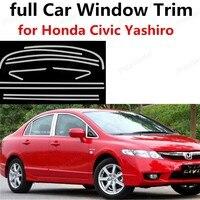 Горячие продажи нержавеющей стали, полная окна автомобиля кадр украшения отделка Для Honda Civic Yashiro с колонкой