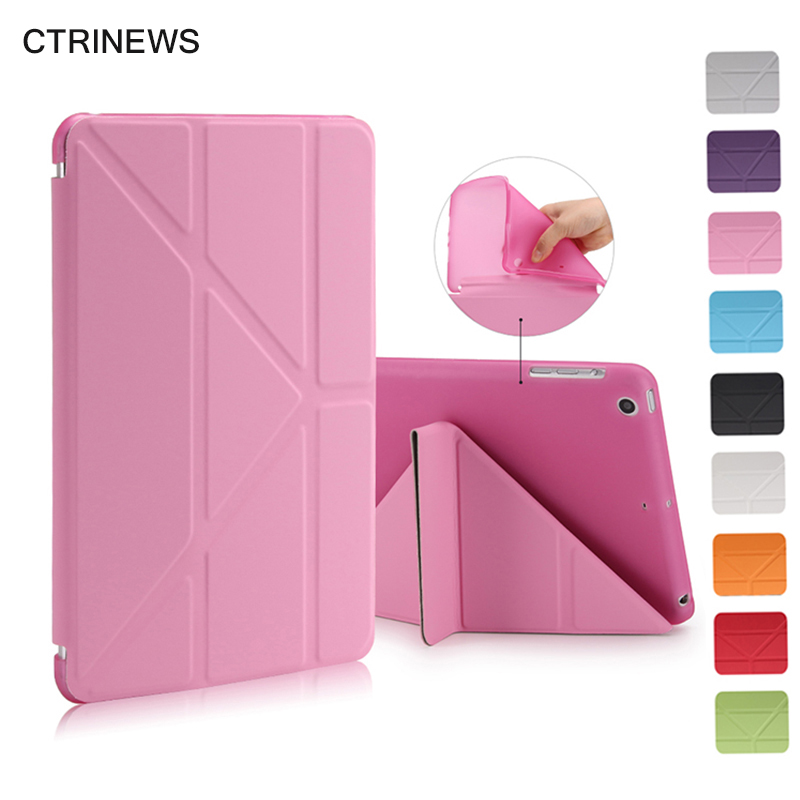CTRINEWS Smart Tablet Case For iPad mini 1 2 3 Flip Leather Stand Cover For iPad mini 2 Silicone TPU Case Auto Wake Up / Sleep ctrinews flip case for ipad air 2 smart stand pu leather case for ipad air 2 tablet protective case wake up sleep cover coque
