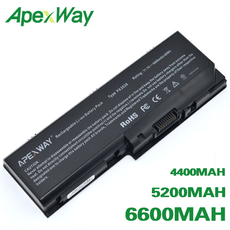 ApexWay Battery For Toshiba Equium L350D P200 Satellite Pro L350 L350D  L355 L355D P200 P200D P205 P205D P300 P300D PA3536U-BRS