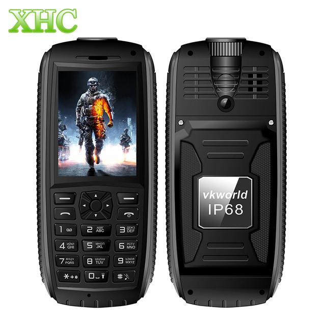 Teclado ruso vkworld piedra v3s v3 v3 max plus teléfono a prueba de agua GSM 2G Teléfono Móvil Anciano Gran Buttom larga Espera Dual SIM