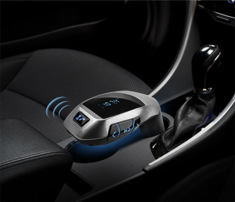 2016 X5 Bluetooth Handsfree FM Transmitter Car Kit MP3 Music Player Radio Adapter Work with TF Card U Disk For Smartphone(1)
