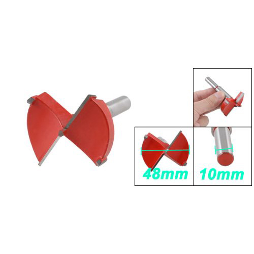 Best Selling  Sale 48mm Red Metal Cutting Diameter Hinge Boring Wood Forstner Bit Set css hot sale 70mm blue gray metal carbide cutting diameter hinge boring drill bit