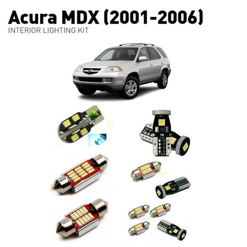 Led Interior Lights For Acura MDX 2001 2006 19pc Led