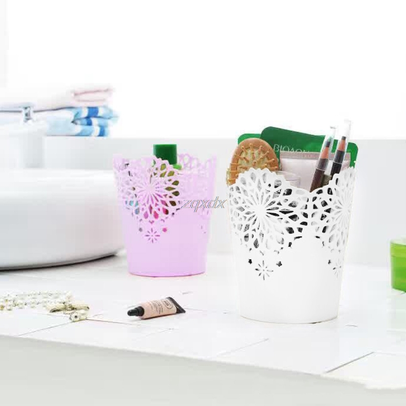Flower Hollow Brush Storage Pen Pencil Pot Holder Container Desk Organizer Gift Drop Ship