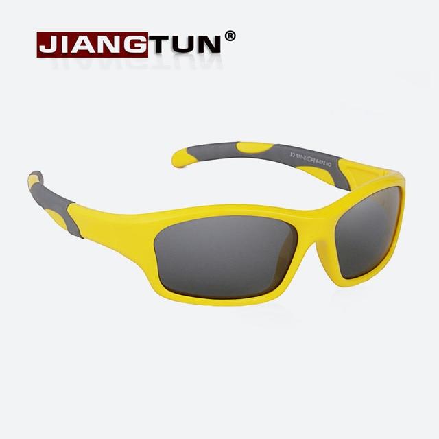 JIANGTUN 2017 Óculos Polarizados Óculos de Sol Da Menina do Menino Crianças  Grife de Óculos Crianças ce601d1c2d