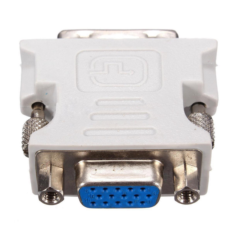 цена на High Quality DVI-D To VGA Adapter 18+1Pin Dual Link Male to VGA 15 Pin Female Plug Adapters For PC Laptop