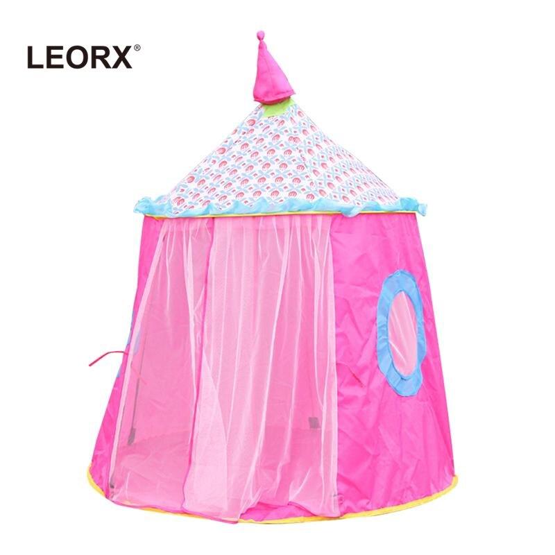 Lindo chicas Playhouse princesa Castillo niños al aire libre tienda del juego (rosa)