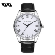 VA VA VOOM Newest Mens Watches Top Brand Luxury Watch Men Watch Waterproof Leather Roman Men's Watch Male Clock relojes VA-201 цены онлайн