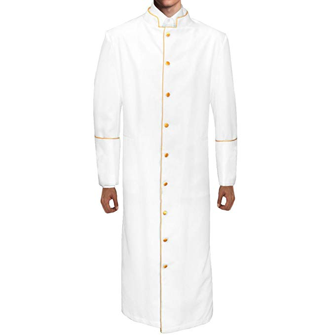 Cosplaydiy Custom Made Clergy Robe Preacher Cassock Medieval Clergy Casock Costume L320
