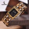 Reloj Feminino BOBO BIRD 25mm relojes de mujer relojes de madera marca de lujo regalos de novia en caja de madera Envío Directo