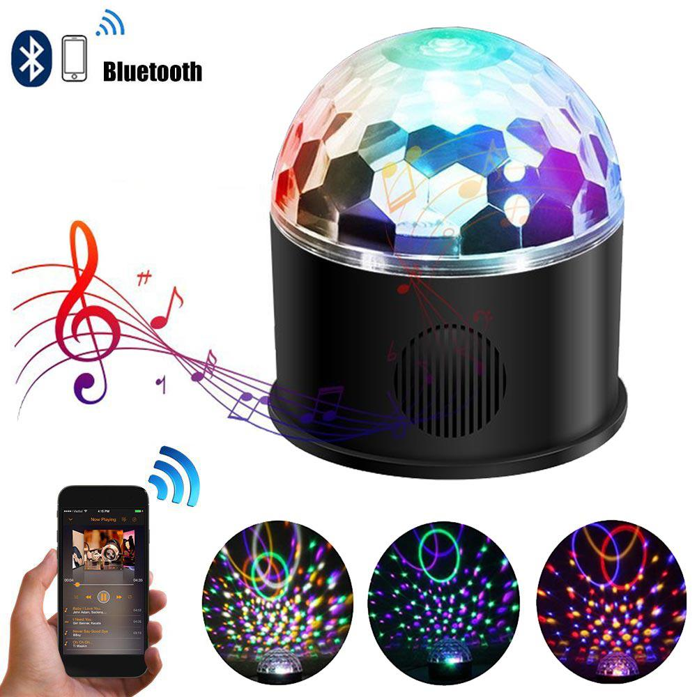 LumiParty 9-colour Bluetooth Stage Light Projection Lamp Remote Control Music Light Festival Decoration USB Plug