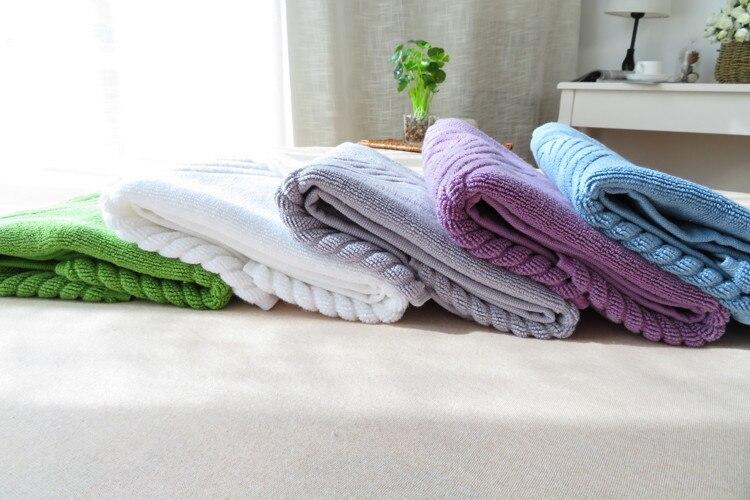 New White Green Blue Gray Purple Footprints Carpets of Living Cotton Carpet Door Mat Hotel Bathroom Mat Floor Towel Mats Rugs in Other Towels from Home Garden