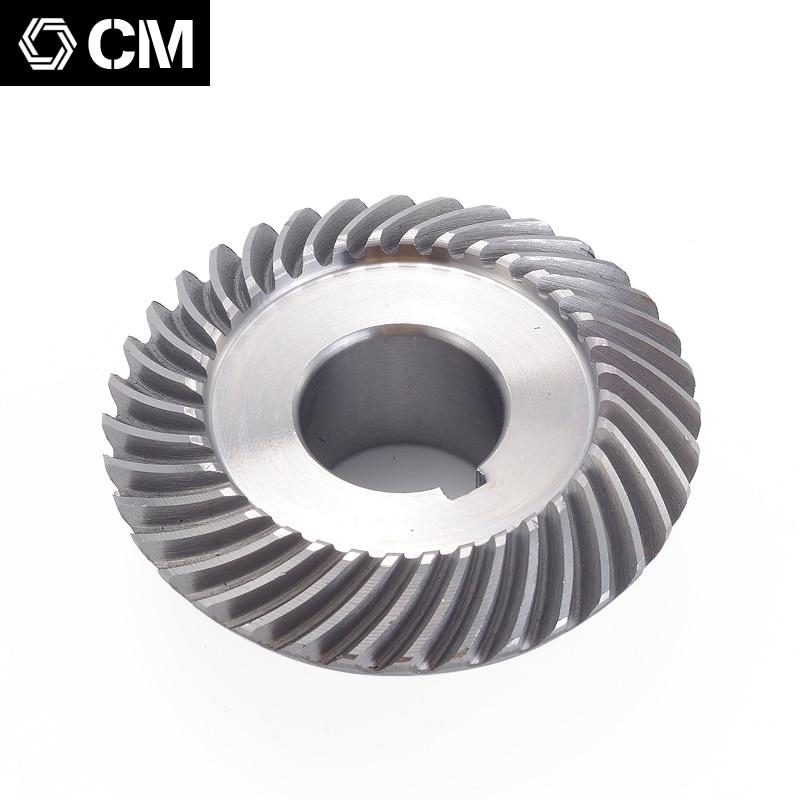 Freies verschiffen Fräsen maschine C77 + 96 Kegelradgetriebe Spiral Kegel getriebe (18 t + 36 t) äußere durchmesser: 40mm + 73mm Fräsen maschine kegelradgetriebe