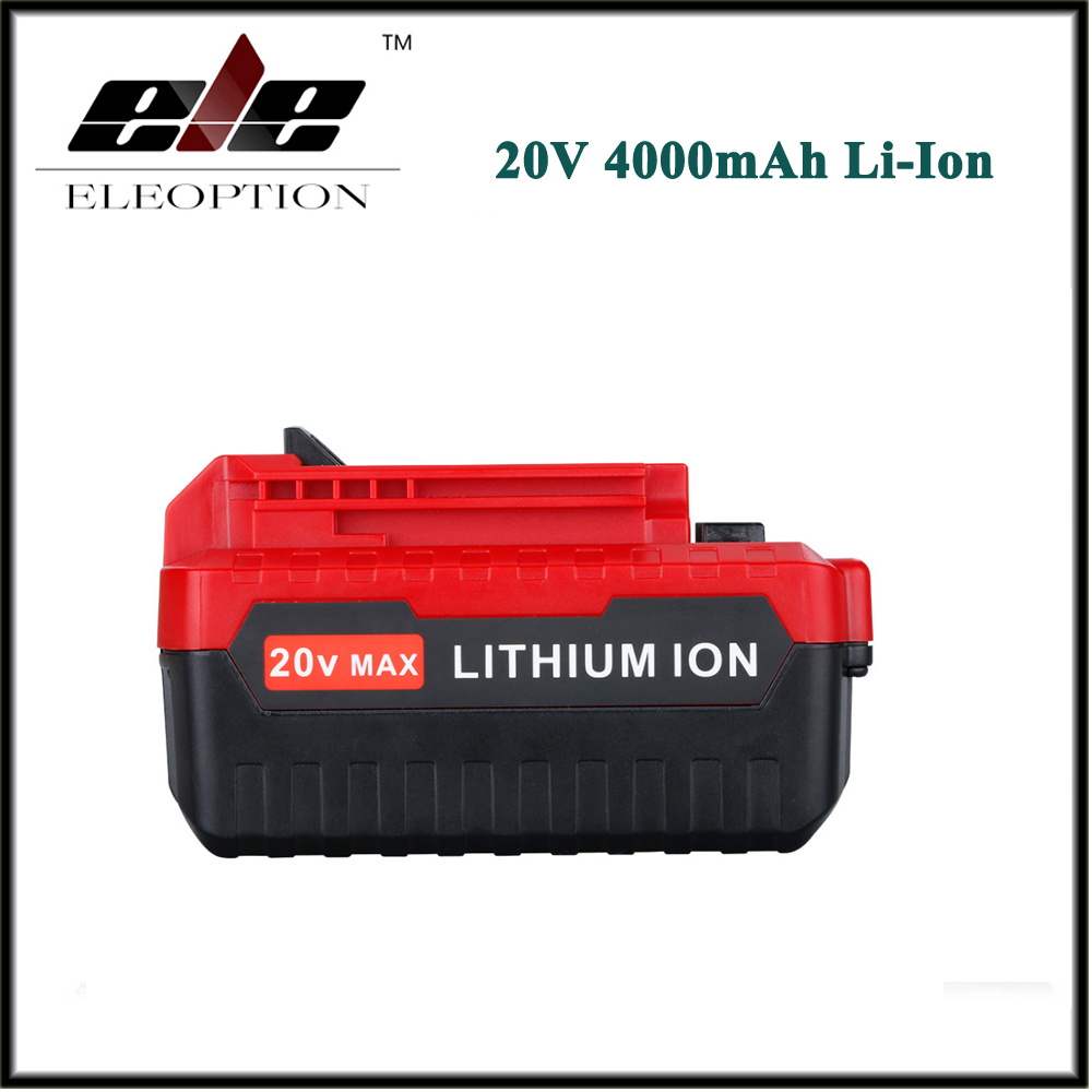 High Quality 20V Max 4000mAh 4.0Ah Lithium Ion Li-ion Rechargeable Battery Pack for Porter Cable PCC685L PCC680L PCC681L 30a 3s polymer lithium battery cell charger protection board pcb 18650 li ion lithium battery charging module 12 8 16v