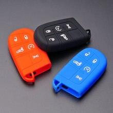 Chiave di Gomma di Silicone FOB Caso Della Copertura Set Proteggere Borsette supporto per FIAT TIPO Borsette Toro 500X nuovo grazie remoto senza chiave 5 pulsante