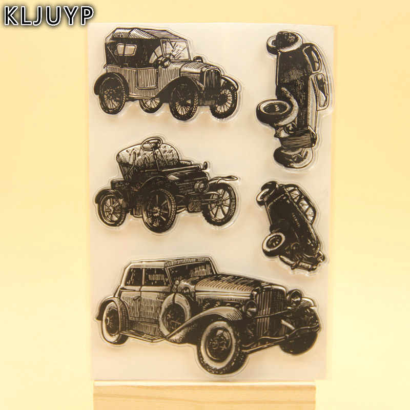 KLJUYP Retro Cars Clear Stamps Scrapbook Paper Craft Clear stamp scrapbooking KL234