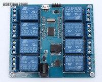 ICSE014A 8 Channel Micro USB Relay Module 5V 10A Soft Control