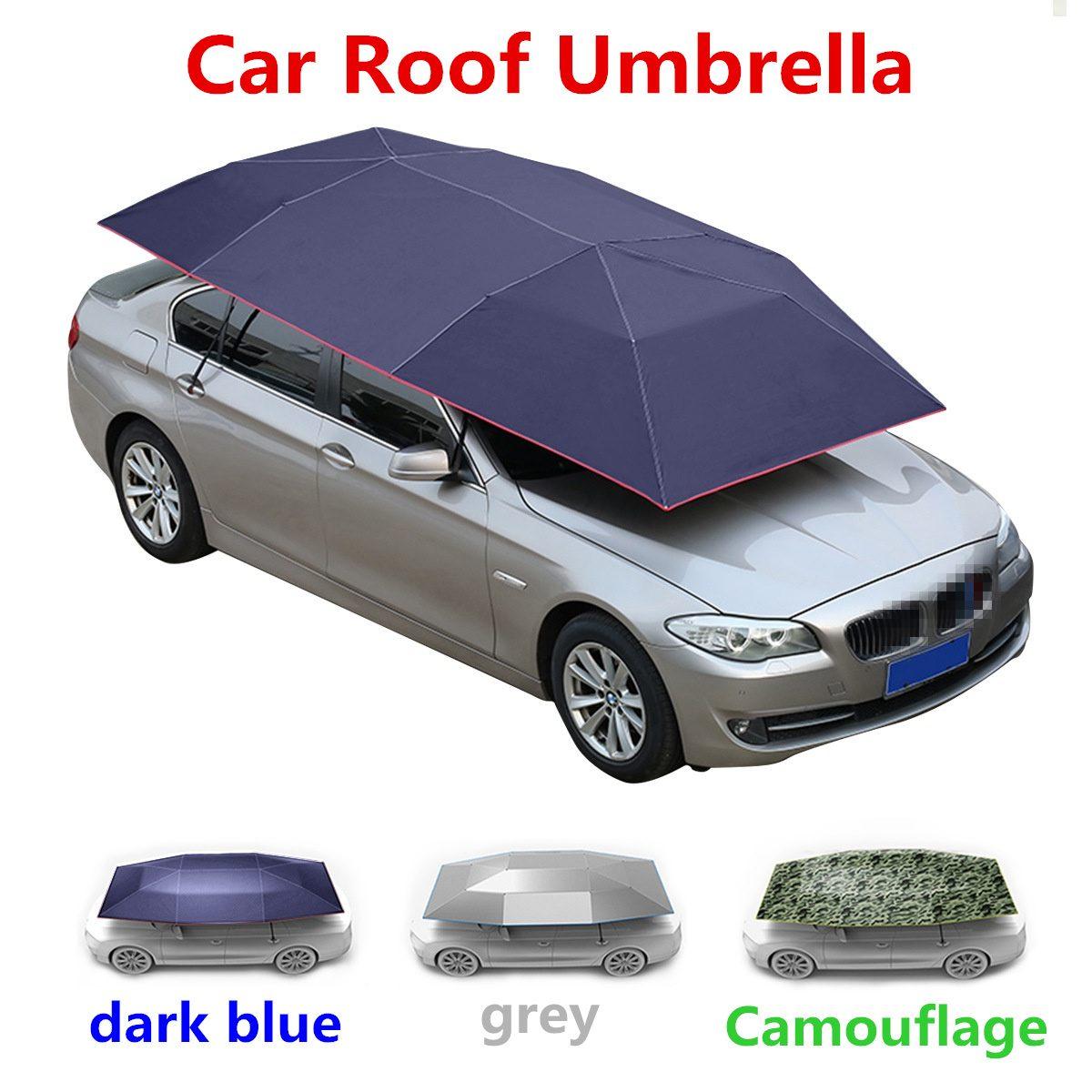 450x230 400x210 cm voiture Extra Large Oxford tissu pare-soleil abri tente couverture de toit parapluie Protection UV extérieure sans squelette