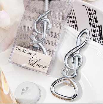 50pcs/Lot+NEW Wedding Favors and Gift Silver Musical Note Wine Bottle Openers+FREE SHIPPING