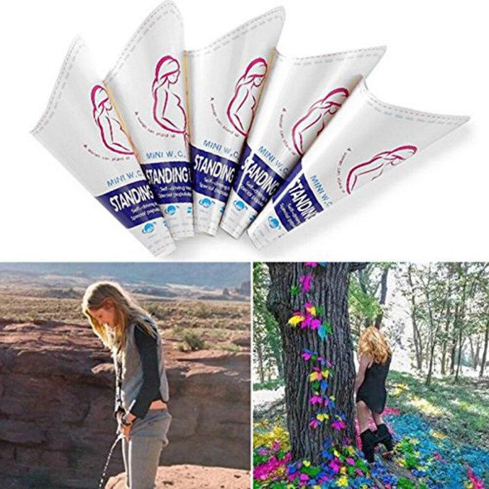 10 Teile/satz Frauen Urinal Outdoor Reise Camping Tragbare Weibliche Urinal Papier Wasserlassen Gerät Stand Up & Pee