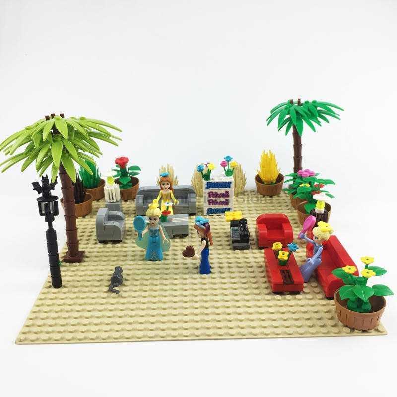 Legoing مدينة الإبداعية المنزل أريكة خزائن الزهور النباتات الجدول مصباح MOC الخالق مجموعة نموذج الاطفال كتل اللعب Legoings دوبلو أرقام