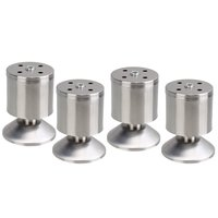 4pcs Stainless Steel Adjustable Feet Furniture Leg DIY Stand For Cabinet Table Chair Diameter 50mm