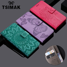 Tsimak 3D Tree Cat Wallet Case For Huawei P20 Pro Flip PU Leather Cover Coque Book Stand Capa